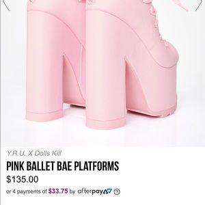 Pink ballet platforms dolls kill